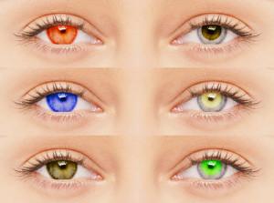 цветни очи с лещи